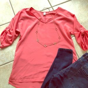 Old navy coral tunic